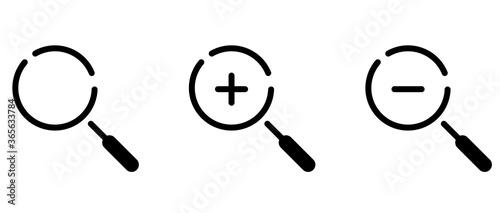 虫眼鏡のアイコンのセット/検索/ビジネス Canvas Print