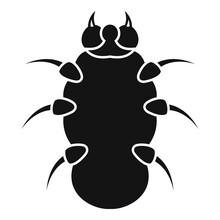 Danger Bug Icon. Simple Illust...