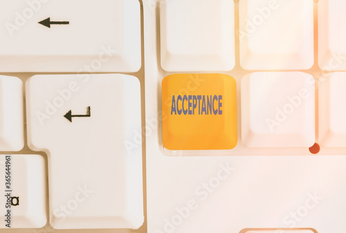 Writing note showing Acceptance Canvas Print