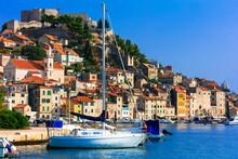 Beautiful Places Of Croatia - Magnifiicent Medieval Town Sibenik In Adriatic Coast