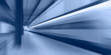 High Speed Train Runs On Rail ...