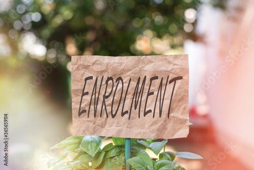 Photo Word writing text Enrolment