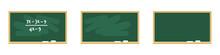 Set Of Chalkboards In Green. V...