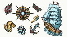 Pirates Color Elements. Tattoo...