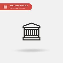 Parthenon Simple Vector Icon. ...