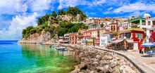 Coloful Beautiful Town Parga -...