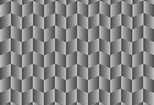 Seamless Geometric Background. Trendy 3d Style Zigzag Gray Gradient Squares Background. Abstract Seamless Black White Gradient Square Pattern Design. 3d Rendering 3d Illustration.