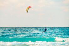Kiteboarder Kitesurfer Athlete Performing Kitesurfing Kiteboarding Tricks Unhoocked