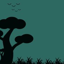 Vector Illustration Of Mushroo...