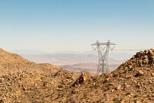 View Of Power Lines Overlookin...