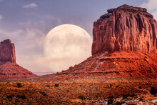 Epic Full Moon Rising On It's ...