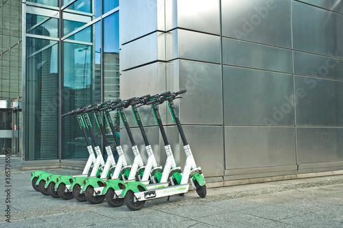Obraz na plátne Electric scooter for rent