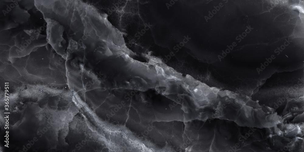 Fototapeta Luxury Dark Black Tone Onyx Marble Texture Design.