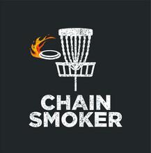 Chain Smoker Funny Disc Golf F...