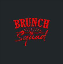 Cute Brunch Squad Funny Love R...