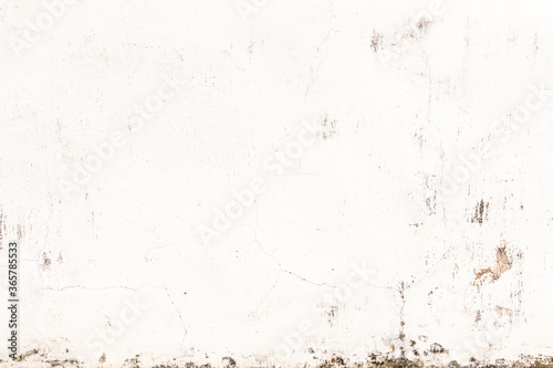 Fototapety, obrazy: Empty interior for design, Old concrete white wall crack. Dirty cement wall texture and background.