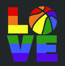 Lgbt Love Funny Rainbow Basketball Gay Pride Player Fan Gift New Design Vector Illustrator