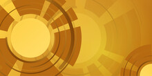 Vector Abstract Golden Luxury Backgrounds With Gold Yellow Brown Black Technology Clock Geometric Graphic Elements For Poster, Flyer, Digital Board And Concept Design.