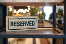 Reserved Sign. Reserved Wooden...