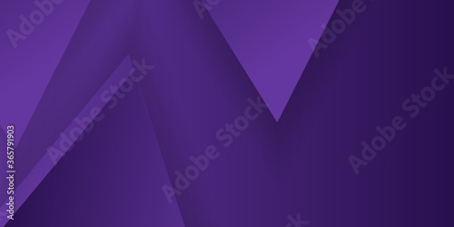 Polygon triangle in purple vector gradient background Canvas Print