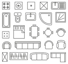 Vector Set Of Outline Isolated...