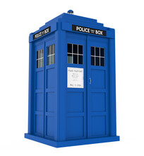 Police Box Isolated