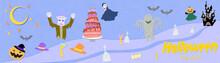 ハロウィンのモンスターとスイーツのペーパーカット