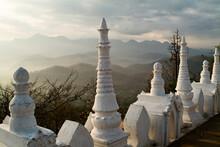 Wat Phra That Doi Kong Mu Temple On Top Of Kong Mu Hill In Mae Hong Son