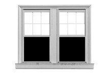 White Wood Window Frame Isolat...