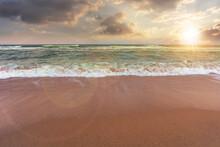Sandy Beach And Turquoise Sea ...