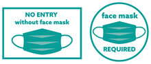 Face Mask Required Sign Symbols Rules