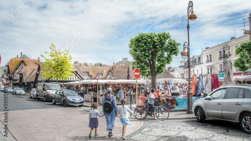 Marché de Deauville Canvas-taulu