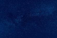Night Starry Sky. A Long Expos...