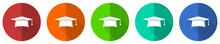 Graduation Icon Set, Cap, Educ...
