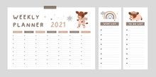 Planner For 2021 Year With Sym...