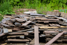 A Pile Of Old Wooden Building ...