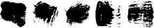 Set Of Black Brush Strokes Wit...