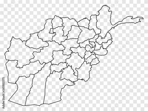 Blank map Afghanistan Canvas Print