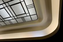 Art Moderne Ceiling Light Fixture In The Auditorium Of The Renovated Seventh Floor Carlu Venue Toronto