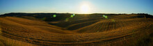 Panoramic Summer Sunset Over T...
