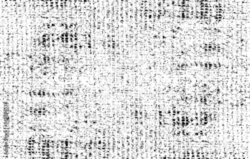 Obraz Rich, heavy fabric texture. Vector texture of weaving cloth. Grunge background. Abstract halftone vector illustration. Overlay for interesting effect and depth. Black isolated on white background. - fototapety do salonu