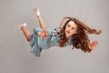 Beautiful Girl Levitating In M...