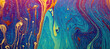 Leinwandbild Motiv Abstract background texture of iridescent paints. Soap bubble