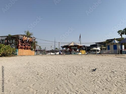 Plage à Dubaï, Émirats arabes unis Fotobehang