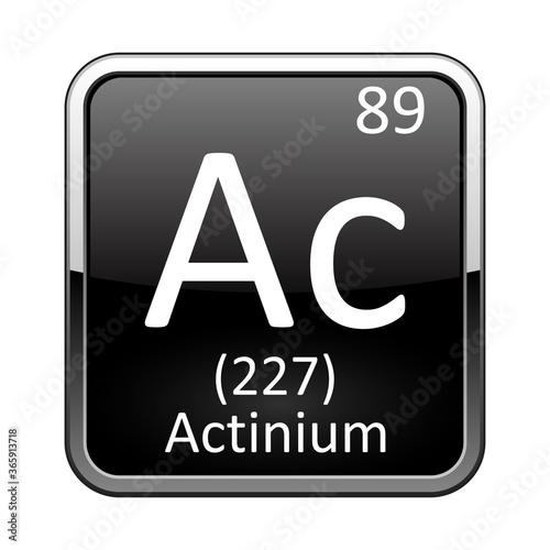The periodic table element Actinium. Vector illustration Canvas Print