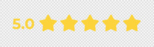 5.0 Star Symbol With Text. Vec...