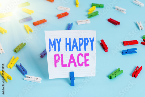 Word writing text My Happy Place Canvas-taulu