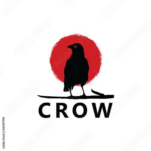 Photo Crow Logo Template Design Vector