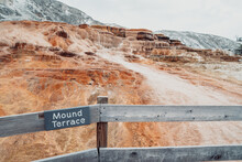 Sign For Mound Terrace, In Mam...