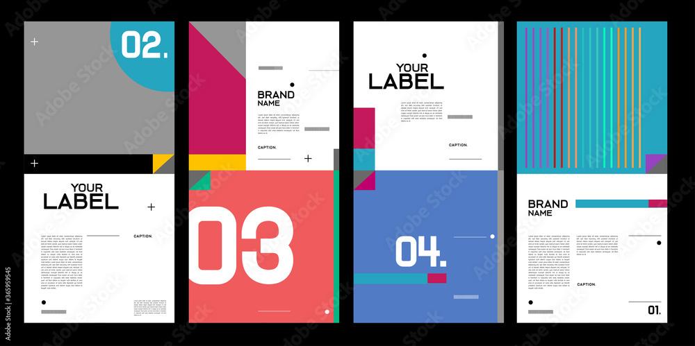 Fototapeta Vector brand label, banner and social media post layout design template